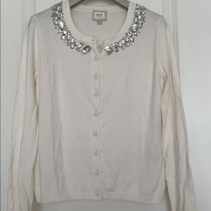 New ECI Cardigan with rhinestones on front collar
